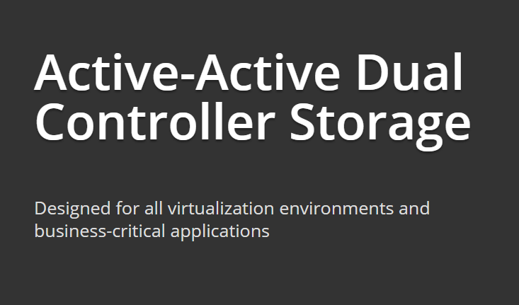 active-active dual controller storage
